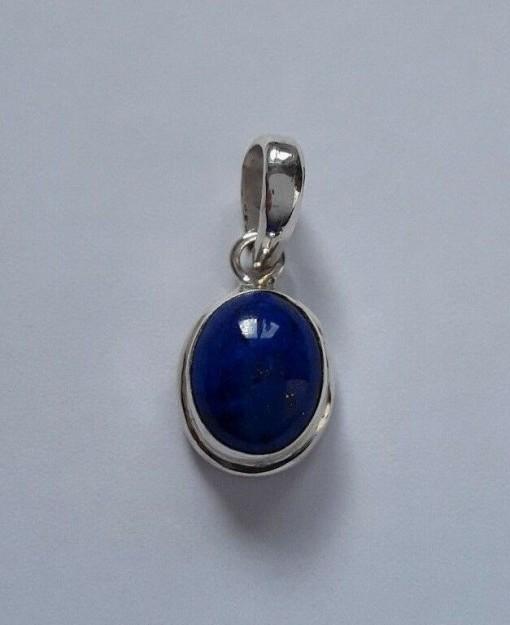 AGNES CREATIONS / Pendentif femme Médaillonen Argent 925 orné d'un Lapis Lazuli