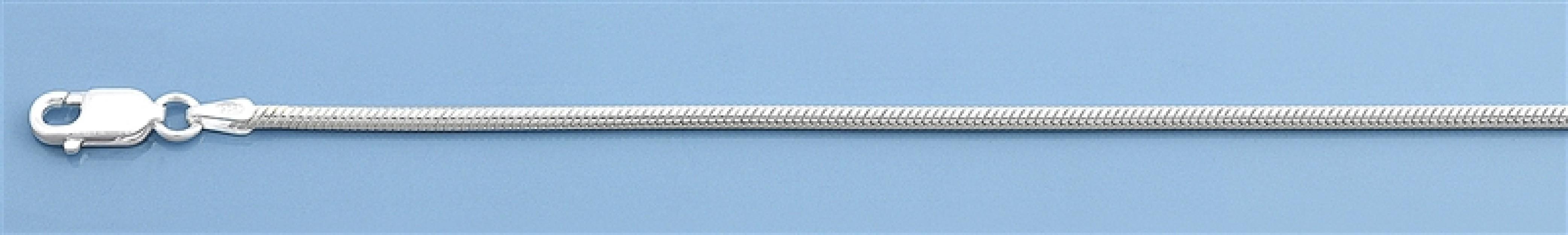 Chaine mixte maille Serpent 0,8 mm argent 925
