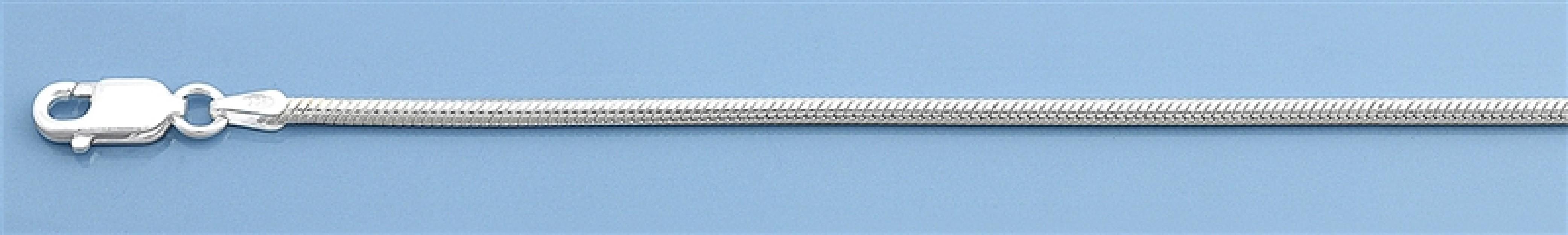 Chaine mixte maille Serpent 0,9 mm argent 925