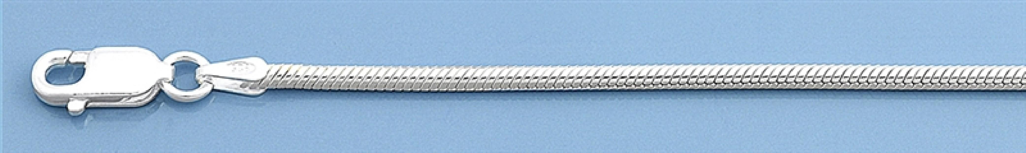 Chaine mixte maille Serpent 1,5 mm argent 925