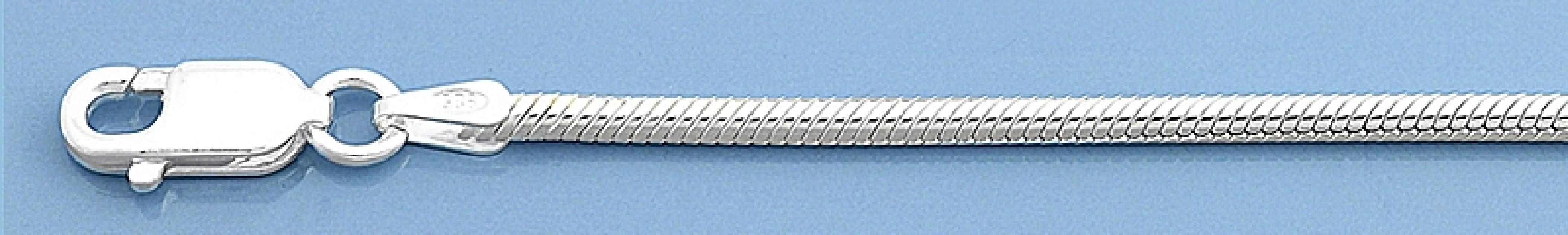 Chaine mixte maille Serpent 1,9 mm argent 925