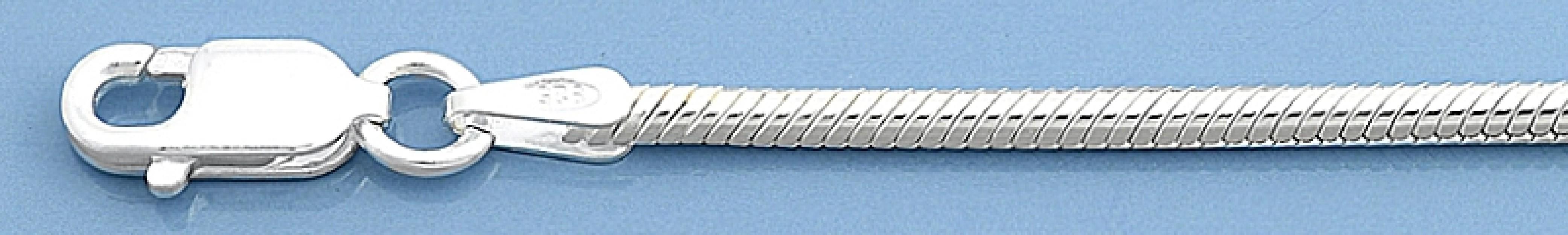 Chaine mixte maille carrée Vénitienne - 0,7 mm - argent 925