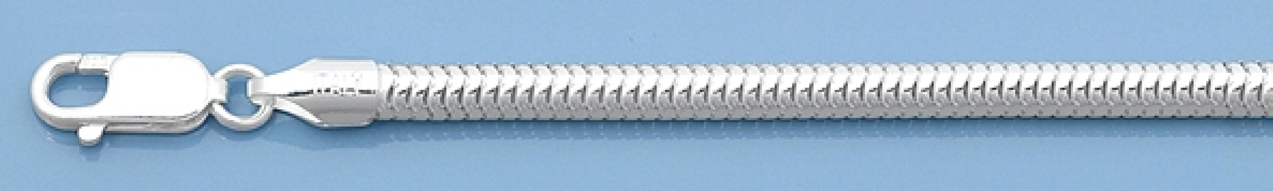 Chaine mixte maille Serpent 4 mm argent 925