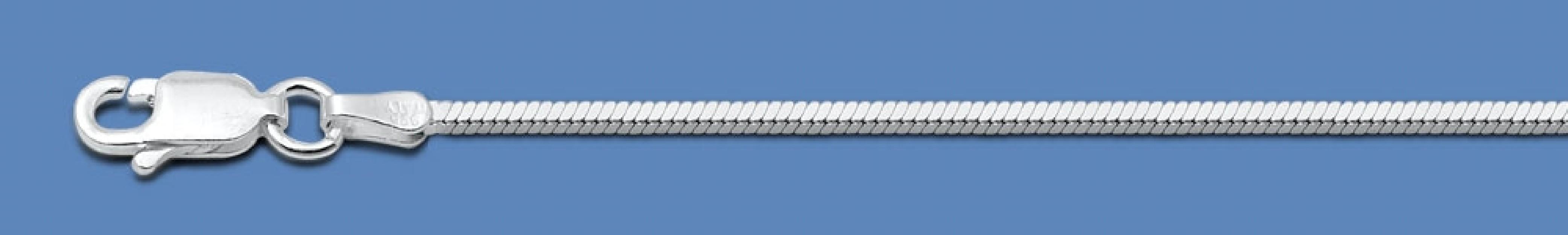 Chaine mixte maille Serpent 1,3 mm argent 925