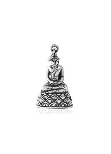 PENDENTIF mixte Bouddha argent 925