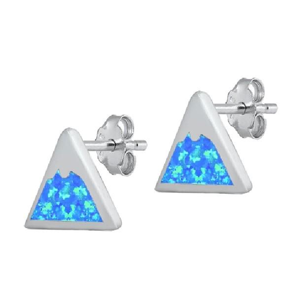 Boucles d'oreilles Etoile filante ornées opale Blanche Argent 925