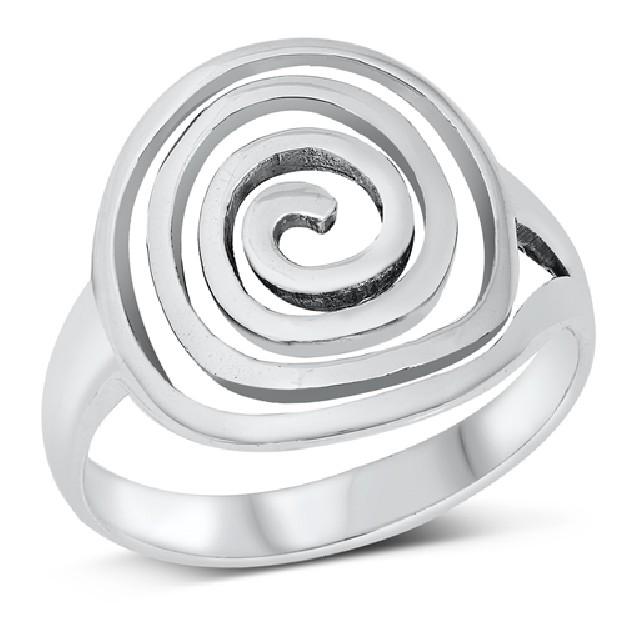 Jolie Bague Femme/Homme design Spirale en Argent 925