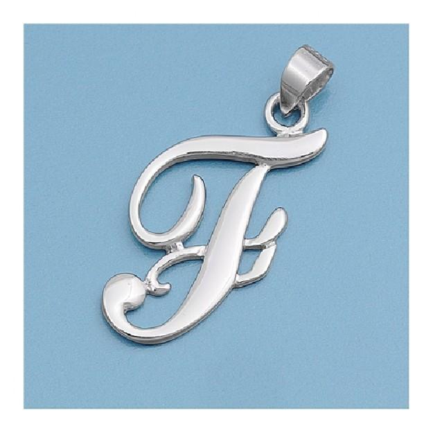 Pendentif initiale Lettre F argent 925