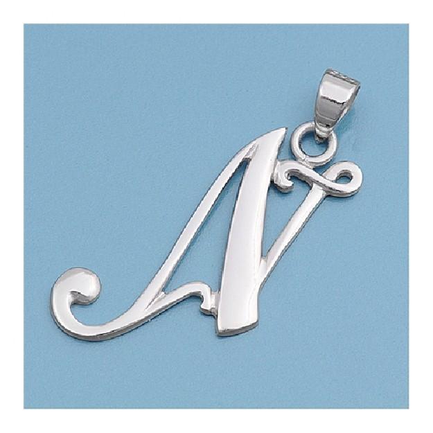 Pendentif initiale Lettre N argent 925