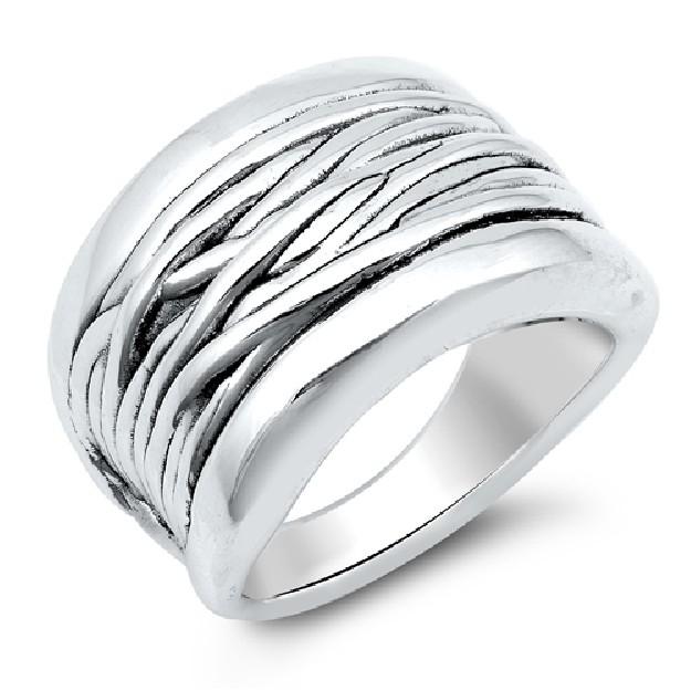 Bague anneau large Design Argent 925