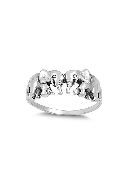 Bague mixte éléphant  Argent 925