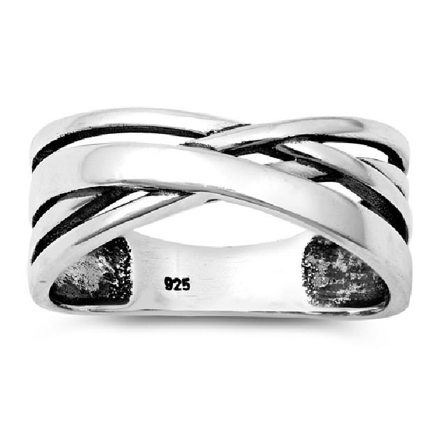 Bague anneau enlacé  Argent 925
