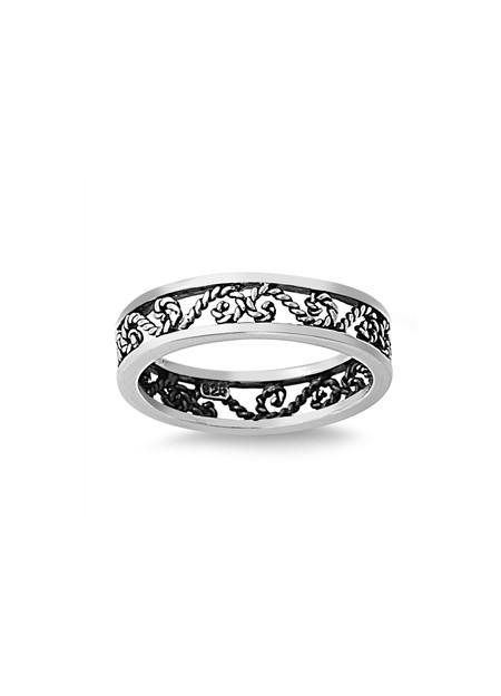 Bague anneau mixte Arabesque en filigrane Argent 925