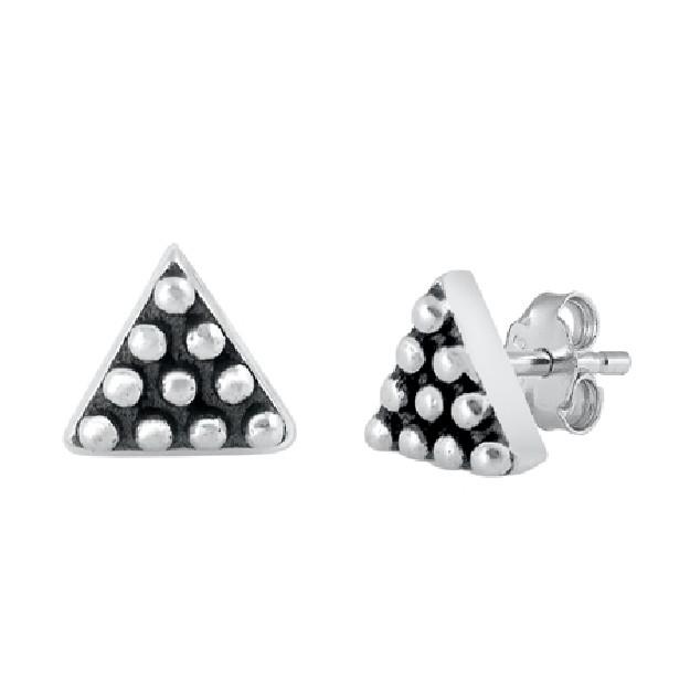 Boucles d'oreilles rétro triangle en Argent 925