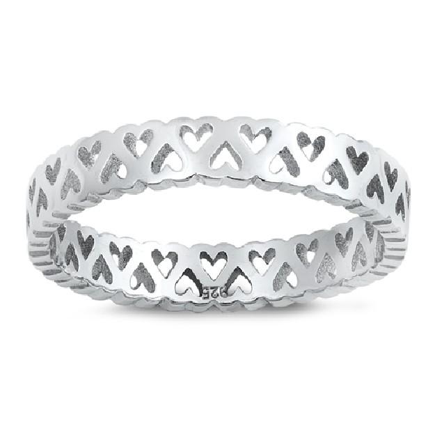 Bague anneau mini Coeur en Argent 925