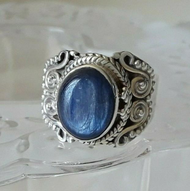 Bague en Argent 925 ornée Kyanite Bleue - TAILLE 53