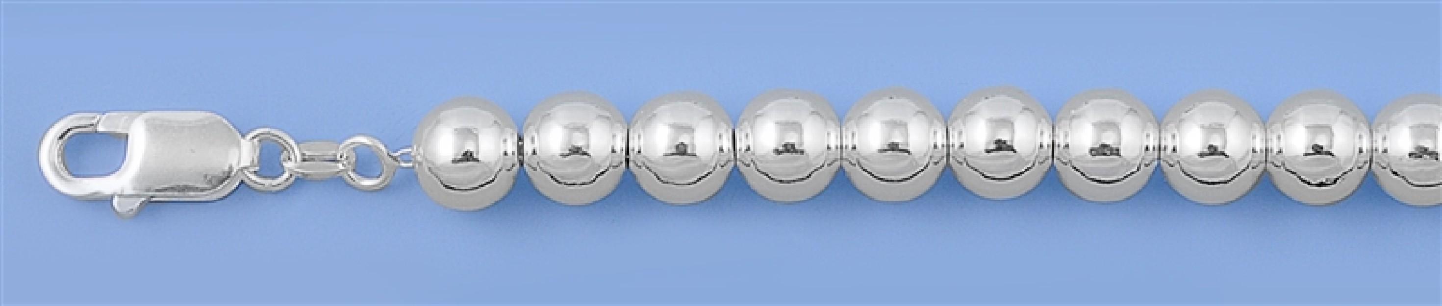 Chaine collier Boule 8 MM argent 925